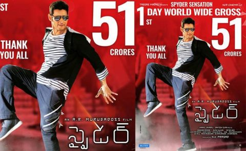 Superstar Mahesh's 'Spyder' Collected 51 Crores On Day 1