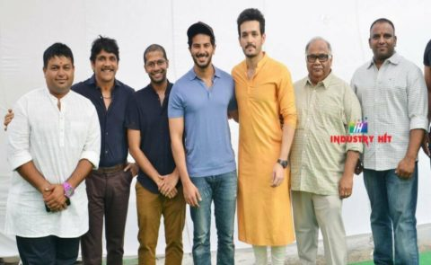 Akhil's 3rd Film Directed By Venky Atluri, Produced By BVSN Prasad Launched Today With King Nagarjuna's First Clap
