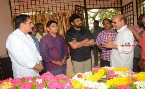 Chiranjeevi-AlluAravind Pays Tribute to Nandagopal