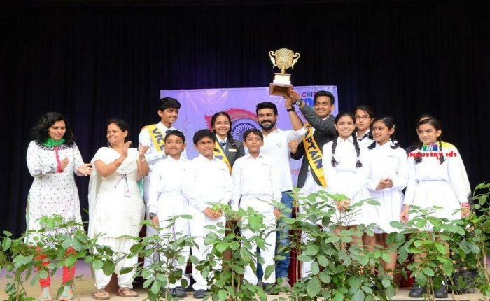 MegaPowerStarRamCharan Celebrates Independence Day In Chirec School