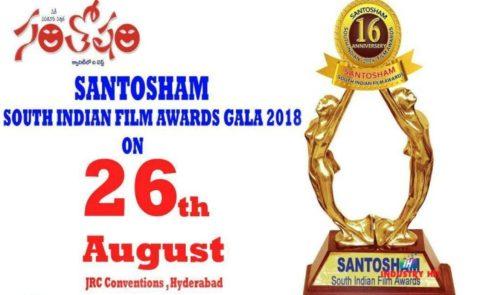 Santosham South Indian Film Awards Gala 2018 On Aug26th