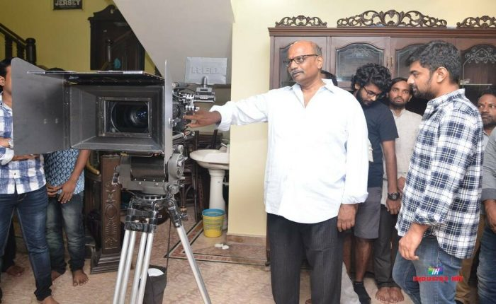"SITHARA ENTERTAINMENTS & NATURAL STAR NANI's ""JERSEY"" Camera Switchon at Pooja Ceremony by Shri Mahendra garu"