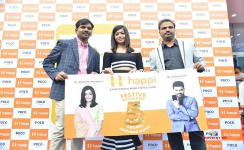 Happi Mobiles Store at Banjara Hills Launched by Rashmika