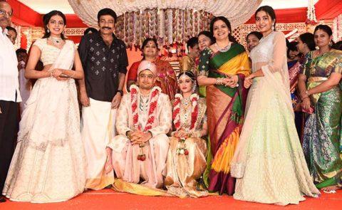 Rajasekhar Nephew Karthik's Wedding – Pics