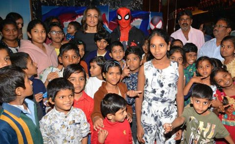 'Spiderman' special screening for Orphan Children at AMB Cinemas