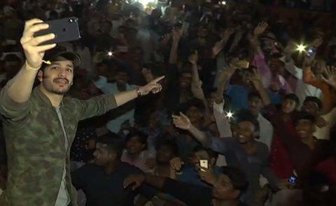 'Mr Majnu' Team Theatres Visit – Video