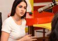Lavanya At Radio Mirchi To Launch 'Arjun Suravaram' Song - Pics
