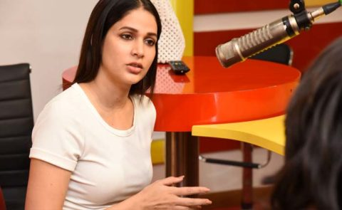 Lavanya At Radio Mirchi To Launch 'Arjun Suravaram' Song – Pics