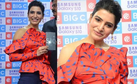 Samantha Launches Samsung S10e Mobile – Pics