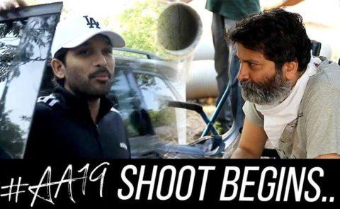 Stylish Star Allu Arjun,Trvikram, Haarika & Hassine Creations, Geeta Arts Film Shoot Begins – Video