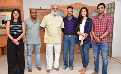 Suchetha Dreamwork Productions Film Launch (Sai Sushanth Reddy, Chandini Chowdary, Simran Chowdary) – Pics