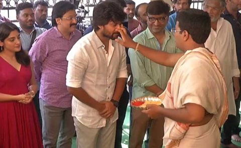 'V' Movie Launch (Nani, Sudheer Babu, Aditi Rao Hydari, Nivetha Thomas) – Video