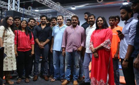 SaiDharamTej Opened SkyZone Trampoline Park at AMB Cinemas