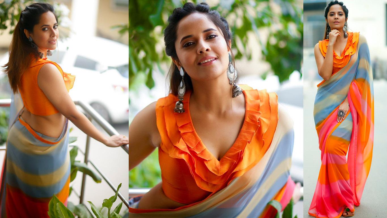 Anasuya Bharadwaj Pic Talk - Curvaceous Anasuya Bharadwaj -