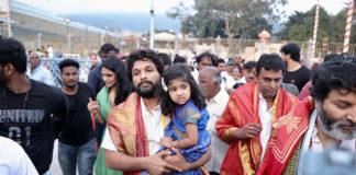 Allu arjun family at Tirumala