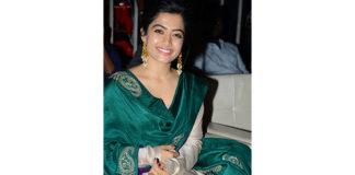 Rashmika at Bheeshma success meet