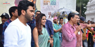Sharwanand, Samantha & Dil Raju At Vizag Raghu Engineering College