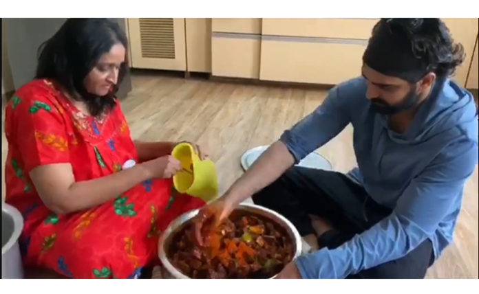 Naga Shaurya Learning How To Prepare Avakai