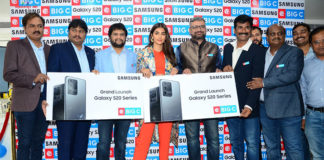 Pooja Hegde Launches Samsung Galaxy s20 at BIG C