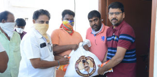 Rajasekhar Charitable Trust donates essentials to poor