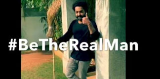 NTR Completes #BetheREALMAN Challenge