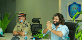 Vijay Devarakonda Video Conferences With Telangana Cops