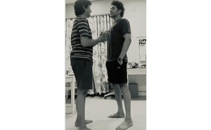 Mahesh's Height Check With His Son Gautam