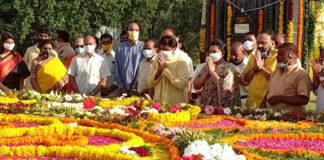 Nandamuri Balakrishna Paid Respects To Nandamuri Tarakaramarao