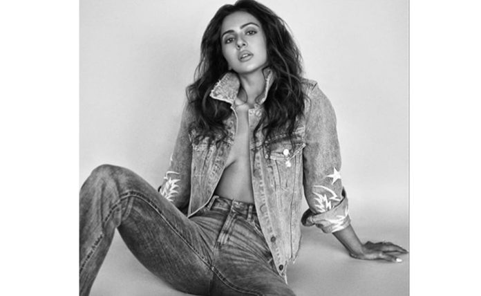 Rakul Preet Hot In Black & White