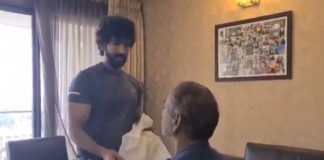 Aadhi Turns Hairstylist For His Dad