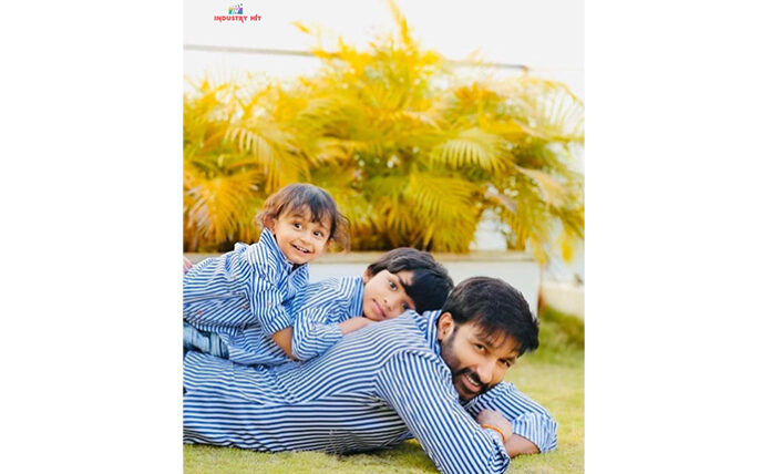 Gopichand with his kids