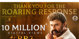 Nandamuri Balakrishna boyapati srinu BB3 First roar teaser crossed 10 million views