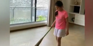 Sitara Helping Out Her Mother