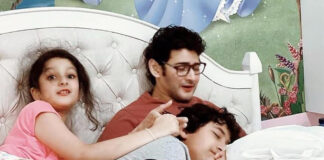 Superstar mahesh with his kids