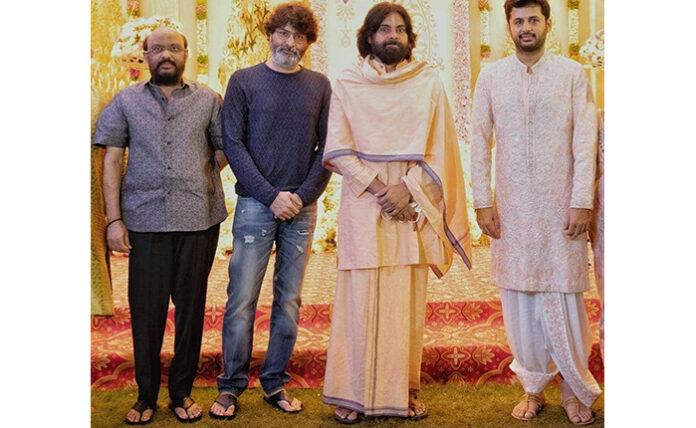 Pawan Kalyan, Trivikram, Radhakrishna Attend Nithiin Pelli Koduku Function