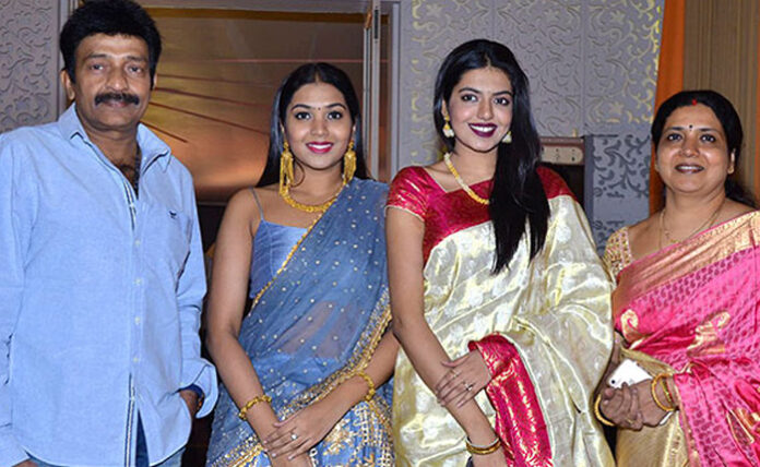 Actor Rajasekhar and his family